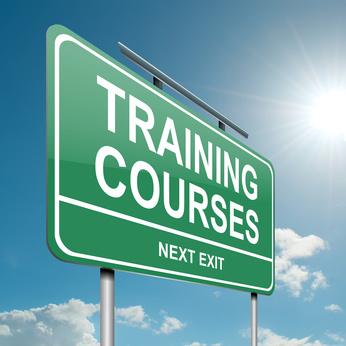 Training courses concept.